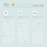 Den tunna linjen rengöringsduksymbolssamlingen för website och app planlägger royaltyfri illustrationer
