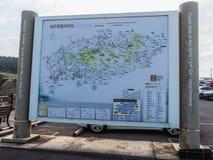 Den turist besökte Seongaksan kusten Arkivfoto