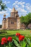 Den turist- dragningen av Armenien - den Etchmiadzin domkyrkan i Vagharshapat Fotografering för Bildbyråer