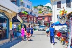 Den turist- gatan Arkivfoto