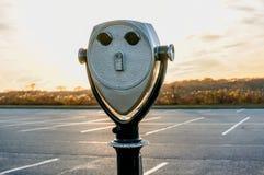 Den turist- kikaren på Montauk pekar fyren Hamptons New York royaltyfri foto