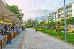 Den turist- marknaden i Alanya Arkivfoton