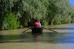 Den turist- staden Vilkovo ?r en stad p? vattnet Staden p? bankerna av Danubet River Juni 10, 2014, Odessa region royaltyfri bild