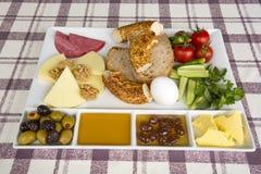 Den turkiska frukosten Arkivbild