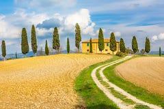 Tuscany landskap fotografering för bildbyråer