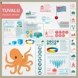 Den Tuvalu infographicsen, statistiska data, siktar bläckfisk Royaltyfria Foton