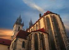 Den Tyn kyrkan Arkivfoton