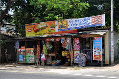 Den typiska vägrenen shoppar i Sri Lanka Royaltyfri Foto