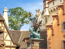 Den tyska paviljongen, värld ställer ut, Epcot Royaltyfria Bilder