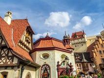 Den tyska paviljongen, värld ställer ut, Epcot Arkivfoto