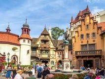Den tyska paviljongen, värld ställer ut, Epcot Arkivfoton
