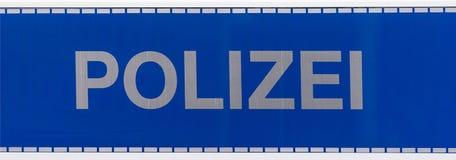 Den tyska polisen undertecknar royaltyfri bild