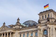 Den tyska Reichstag byggnaden i Berlin Royaltyfria Foton