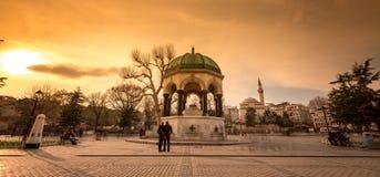 Den tyska springbrunnen istanbul arkivbilder