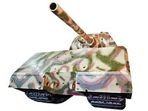 Den tyska toppen-skurkrollen behållaren Panzerkampfwagen VIII Maus isolerade vit arkivfoto
