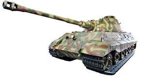 Den tyska tunga konungen Tiger för behållarePzKpfw VI Ausf B tiger II isolerade Royaltyfri Foto