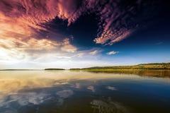 Den tysta natursjön Royaltyfri Bild