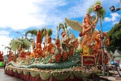Den Ubon Ratchathani stearinljusfestivalen, THAILAND - Juli 25: Royaltyfri Bild