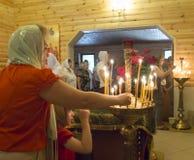 Den ukrainska ortodoxen firar Treenighet Arkivfoton