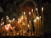 Den ukrainska ortodoxen firar Treenighet Royaltyfria Foton