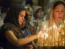 Den ukrainska ortodoxen firar Treenighet Royaltyfria Bilder