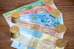 Den ukrainska valutahryvniaen Royaltyfri Fotografi