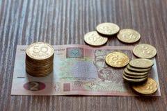 Den ukrainska valutahryvniaen Royaltyfria Foton