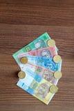 Den ukrainska valutahryvniaen Royaltyfri Foto