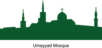 Den Umayyad moskén syria Arabisk republik Royaltyfria Foton
