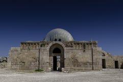 Den Umayyad slotten i Amman, Jordanien royaltyfri bild