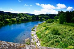 Den Umpqua floden Royaltyfri Fotografi