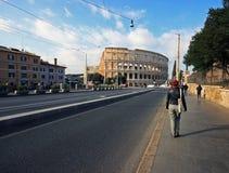 Den underbara Colloseumen i Rome Arkivbilder