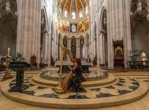 Den underbara gamla staden Madrid, Spanien royaltyfri foto