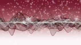Den underbara julanimeringen med flyttning vinkar + snöflingor + stjärnor, 4096x2304 öglan 4K lager videofilmer