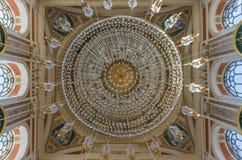 Den underbara Ortaköy moskén av Istanbul kalkon fotografering för bildbyråer