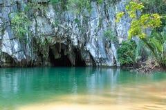 Den underjordiska floden av Puerto Princesa, Palawan, Filippinerna Fotografering för Bildbyråer