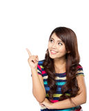 Den unga asiatiska kvinnan får en inspiration Fotografering för Bildbyråer