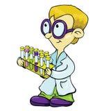 Den unga forskaren. Arkivbild