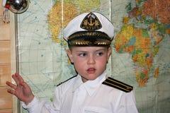 Den unga kaptenen Royaltyfri Bild