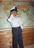 Den unga kaptenen arkivfoto