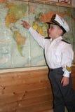 Den unga kaptenen Royaltyfri Fotografi