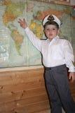 Den unga kaptenen Arkivbild