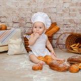 Den unga kocken Arkivbild