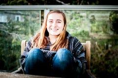 Ungt le för kvinna arkivfoto