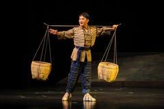 Den unga portvaktJiangxi operan en besman Arkivbild