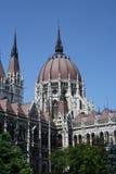 Den ungerska parlamentbyggnaden Arkivbilder