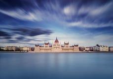 Den ungerska parlamentbyggnaden Royaltyfria Bilder