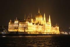 Den ungerska parlamentbyggnaden arkivfoto