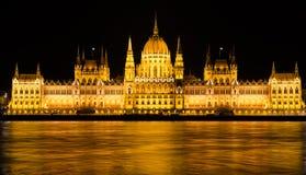 Ungersk parlament i Budapest, Ungern Royaltyfria Bilder