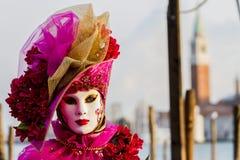 Den traditionella venetian karnevalet maskerar Arkivfoto